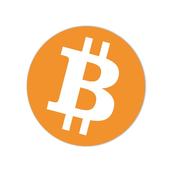 Sticker Bitcoin Logo Ø 95 mm 1 piece