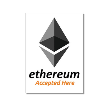 Aufkleber Ethereum accepted here 74x105 mm 10-er Pack