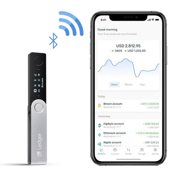 ledger nano x cryptocurrency hardware wallet bluetooth